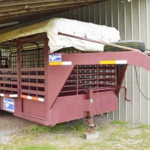 Burnley Rd Equipment Sale | Gooseneck Cattle Trailer