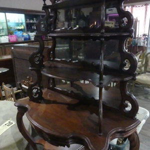 Victorian Walnut Etagere | Downtown Antique Mall