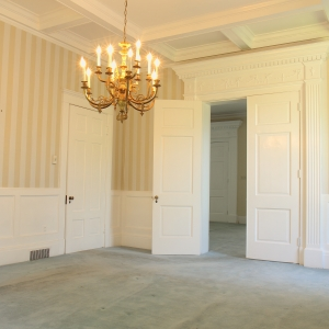 Entertainers Dream Dining Room | Dining Room with coffered ceiling, French doors and wainscoting are just part of the period details