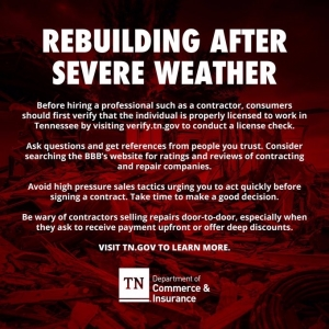 Rebuilding after Severe Weather | Rebuilding after Severe WeatherTN Dept of C&I