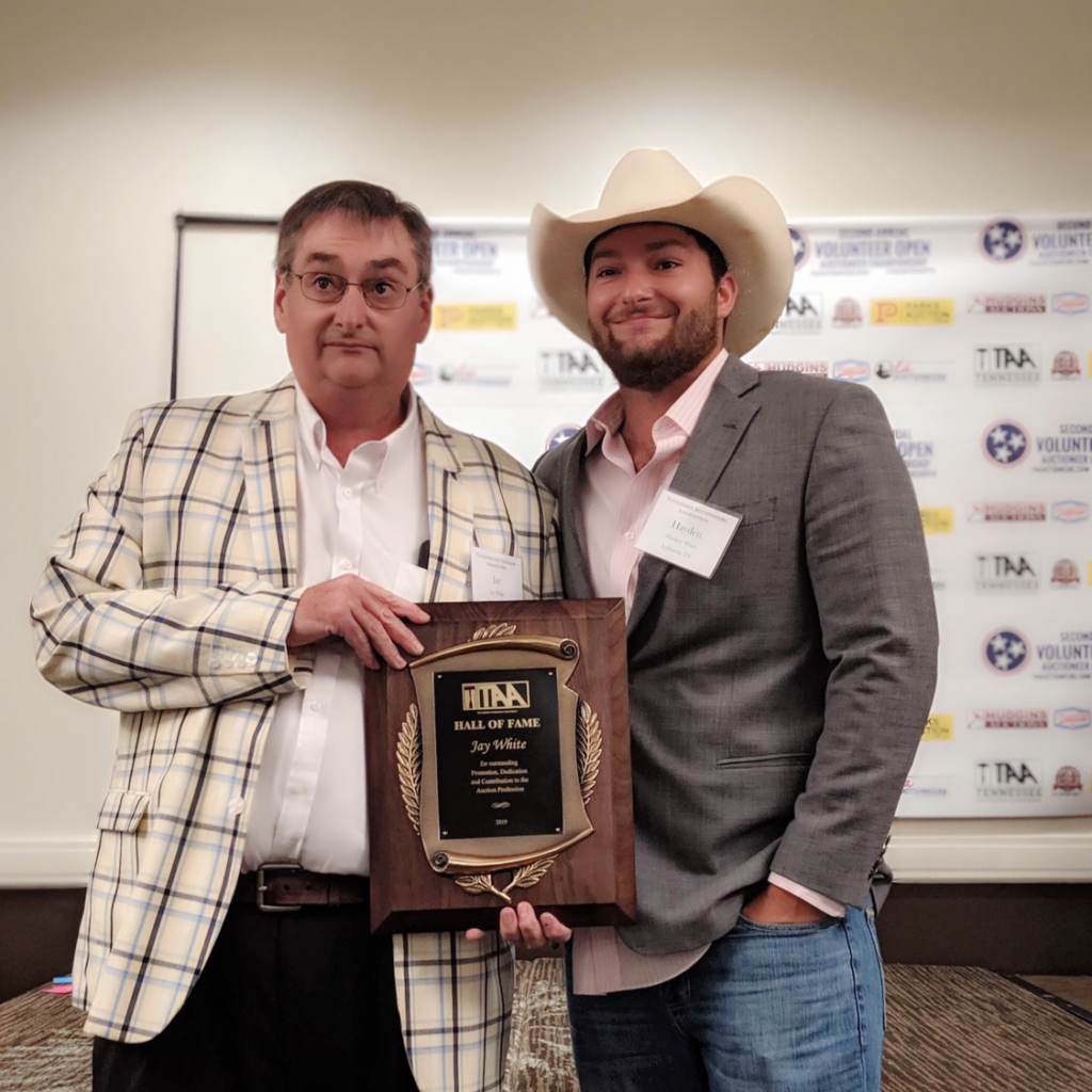 Jay White TN Auctioneer Hall of Fame Induction with Hayden White 2019
