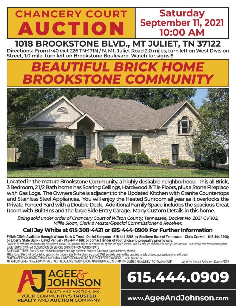 1018 Brookstone Blvd • Mt Juliet TN